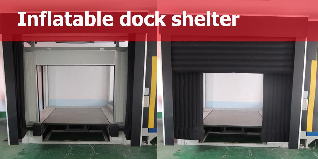 Inflatable dock shelter